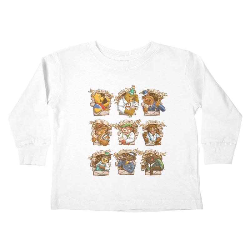 Beer Bears Kids Toddler Longsleeve T-Shirt by T2U