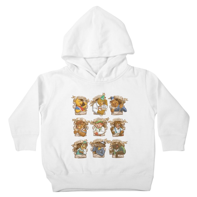 Beer Bears Kids Toddler Pullover Hoody by Tiago Möller Art Shop