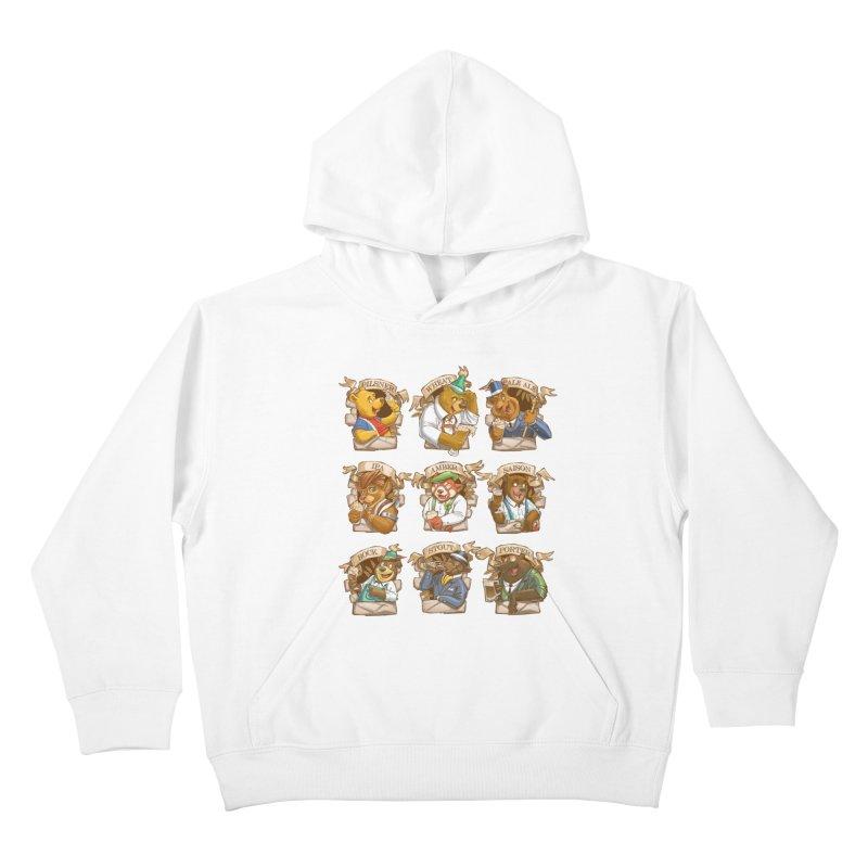 Beer Bears Kids Pullover Hoody by T2U