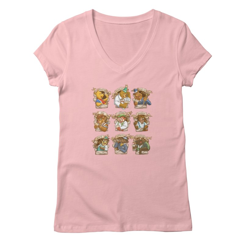 Beer Bears Women's V-Neck by T2U