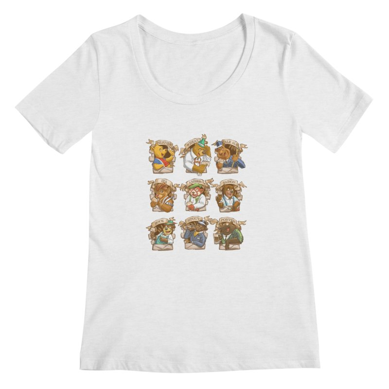 Beer Bears Women's Scoopneck by Tiago Möller Art Shop