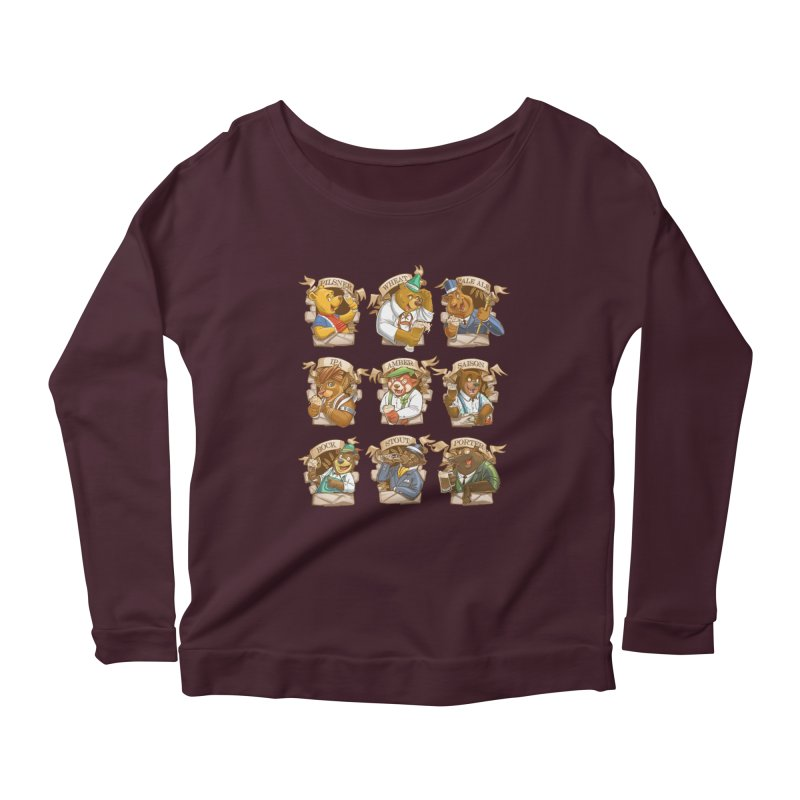 Beer Bears Women's Longsleeve Scoopneck  by Tiago Möller Art Shop