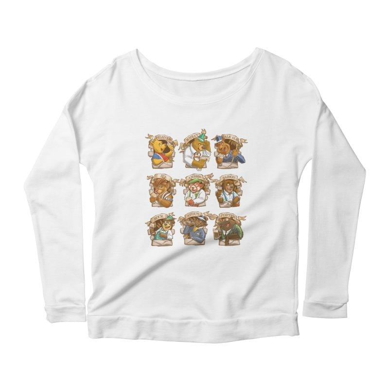 Beer Bears Women's Scoop Neck Longsleeve T-Shirt by T2U