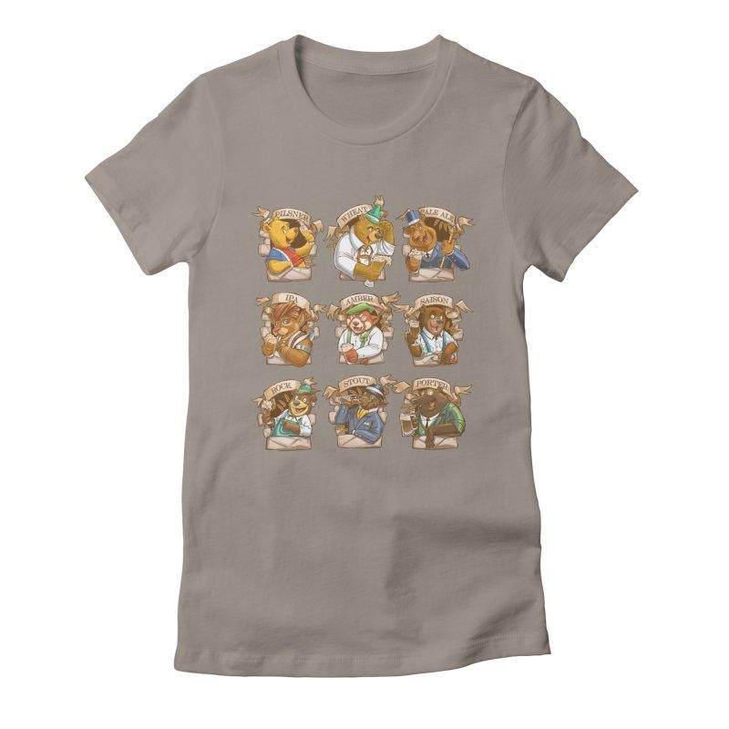 Beer Bears Women's Fitted T-Shirt by Tiago Möller Art Shop
