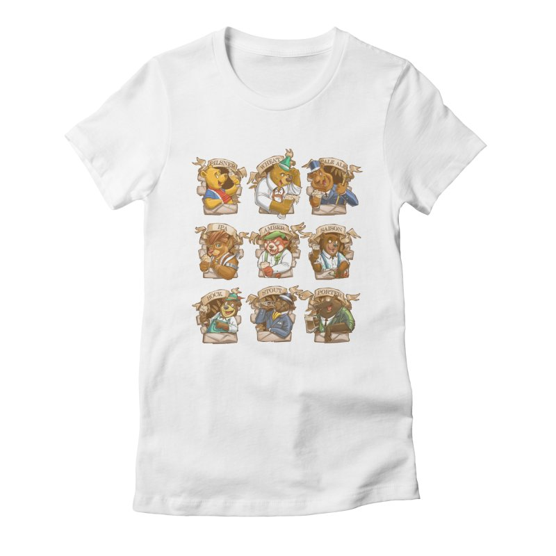 Beer Bears Women's Fitted T-Shirt by T2U