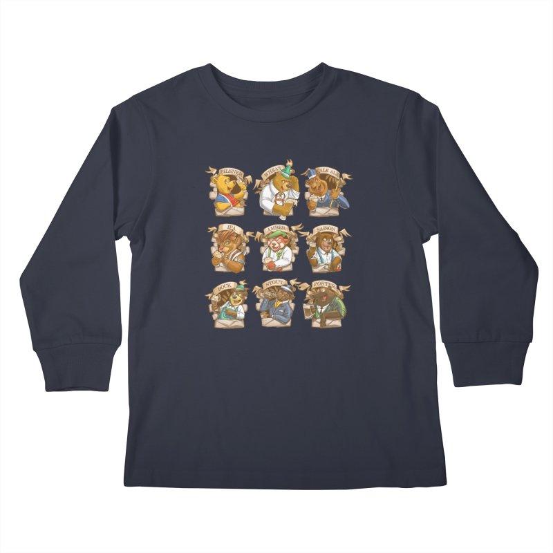 Beer Bears Kids Longsleeve T-Shirt by T2U