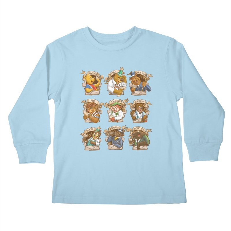 Beer Bears Kids Longsleeve T-Shirt by T2U