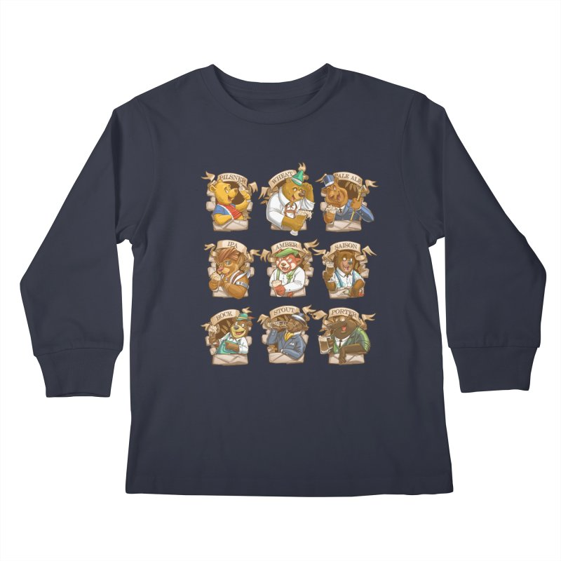 Beer Bears Kids Longsleeve T-Shirt by Tiago Möller Art Shop