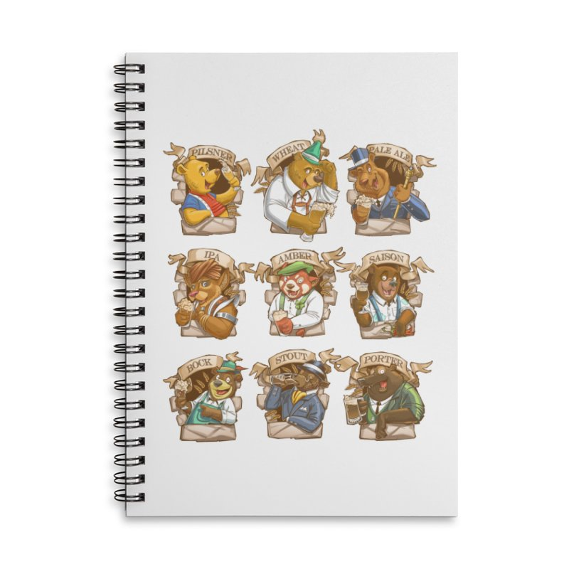 Beer Bears Accessories Lined Spiral Notebook by T2U