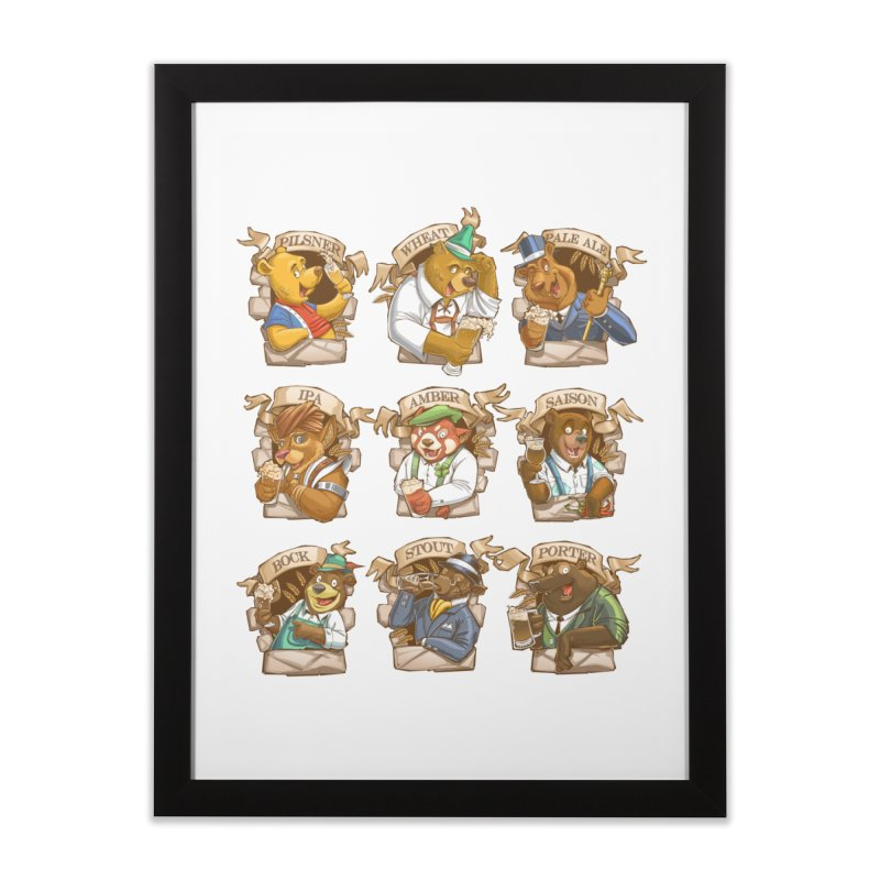 Beer Bears Home Framed Fine Art Print by Tiago Möller Art Shop