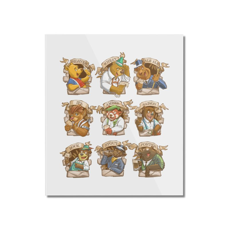Beer Bears Home Mounted Acrylic Print by T2U