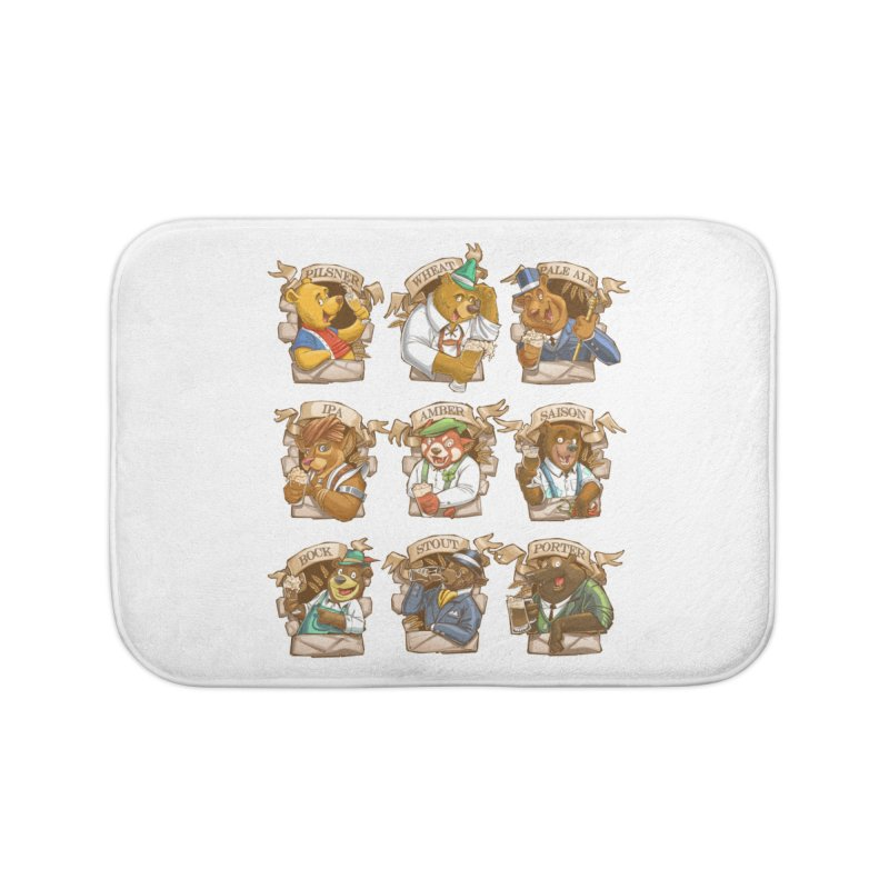 Beer Bears Home Bath Mat by T2U
