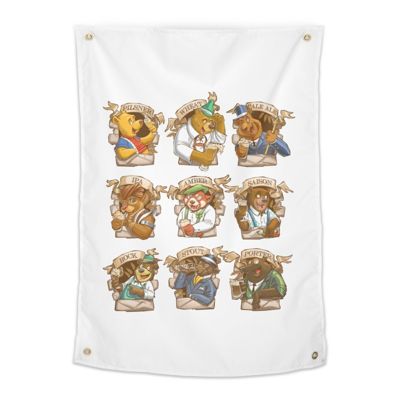 Beer Bears Home Tapestry by Tiago Möller Art Shop