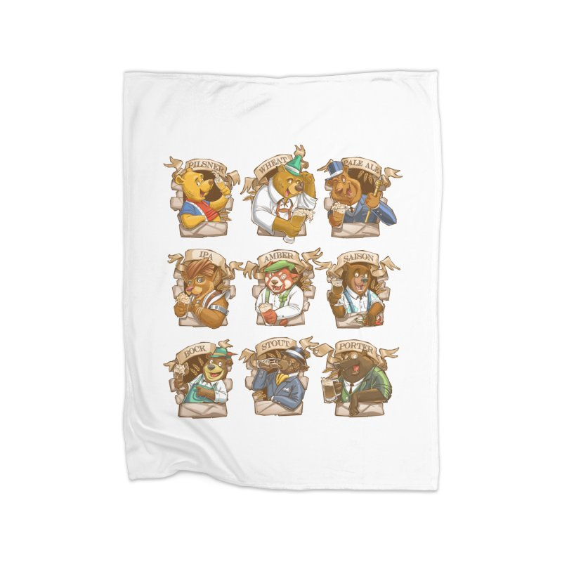 Beer Bears Home Fleece Blanket Blanket by T2U