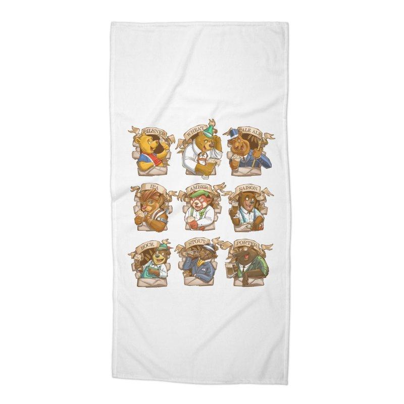 Beer Bears Accessories Beach Towel by Tiago Möller Art Shop