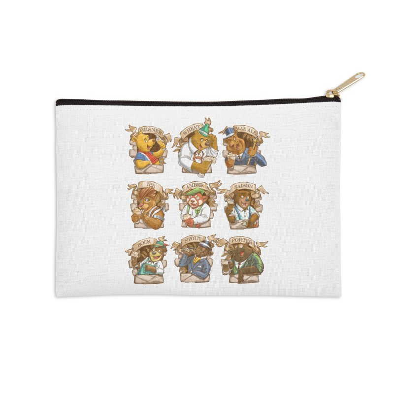 Beer Bears Accessories Zip Pouch by T2U
