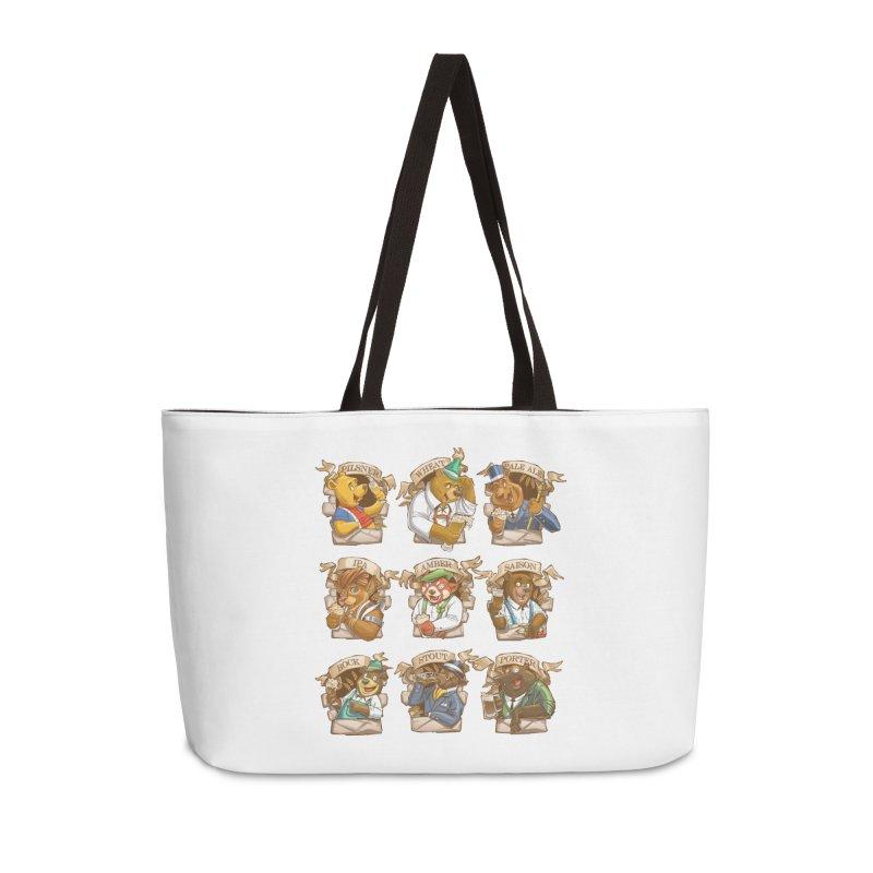 Beer Bears Accessories Weekender Bag Bag by T2U
