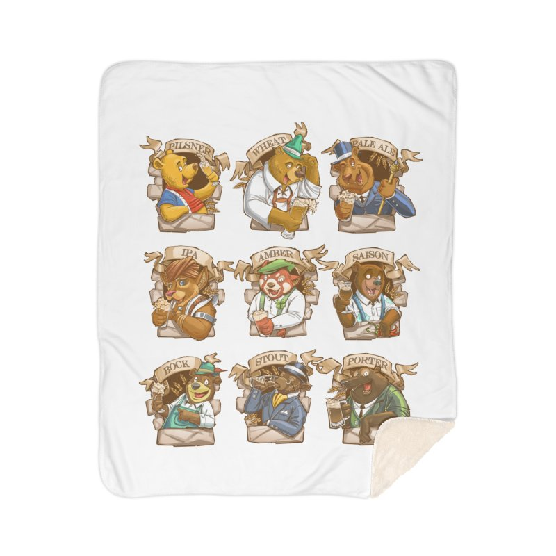 Beer Bears Home Sherpa Blanket Blanket by T2U