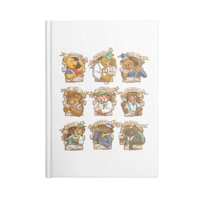 Beer Bears Accessories Lined Journal Notebook by T2U