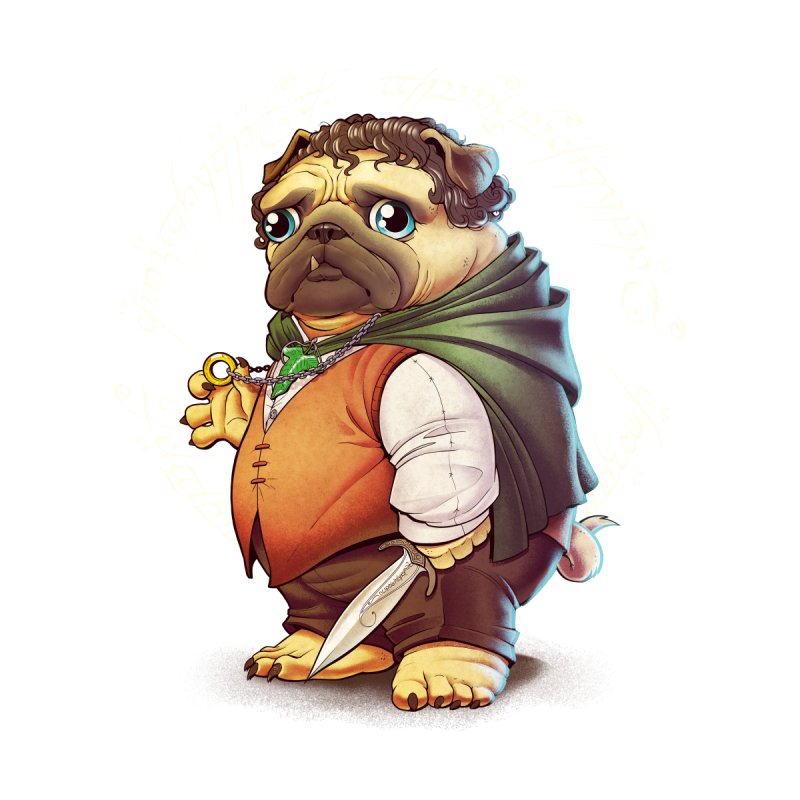 Frodo Puggins by Tiago Möller Art Shop
