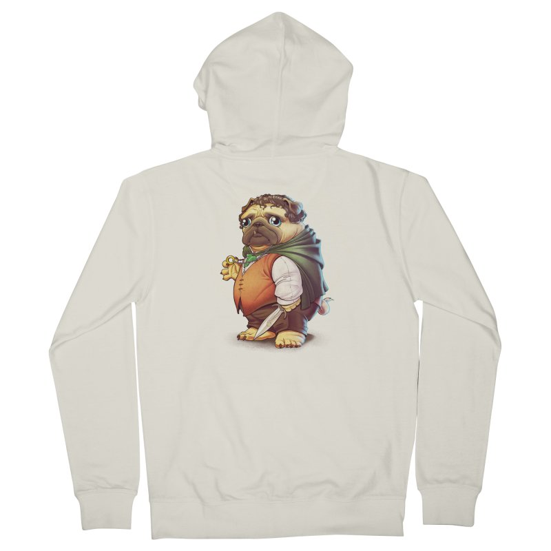 Frodo Puggins Men's Zip-Up Hoody by Tiago Möller Art Shop