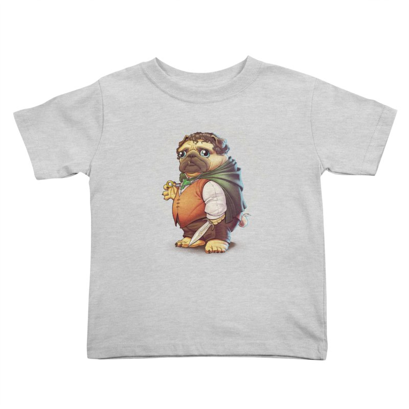 Frodo Puggins Kids Toddler T-Shirt by Tiago Möller Art Shop