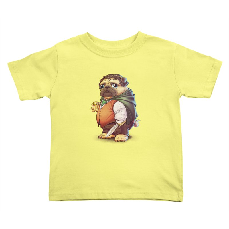 Frodo Puggins Kids Toddler T-Shirt by Tiago Möller Art Shop