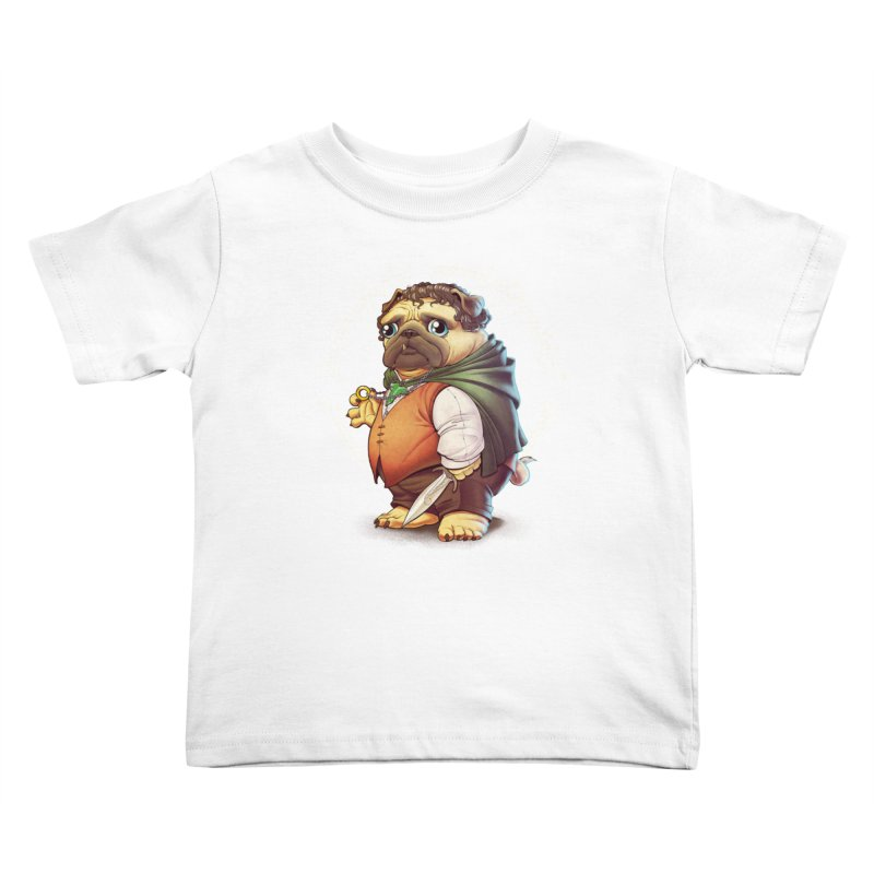 Frodo Puggins Kids Toddler T-Shirt by T2U