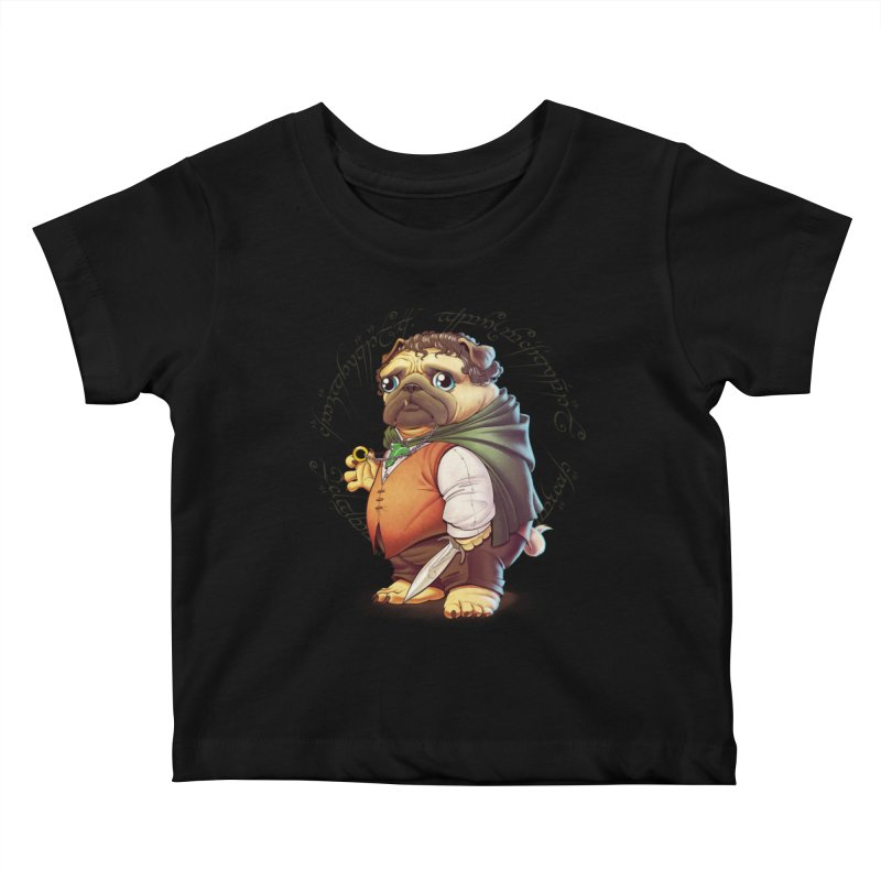 Frodo Puggins Kids Baby T-Shirt by Tiago Möller Art Shop