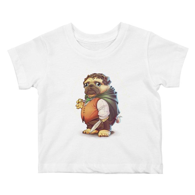 Frodo Puggins Kids Baby T-Shirt by T2U