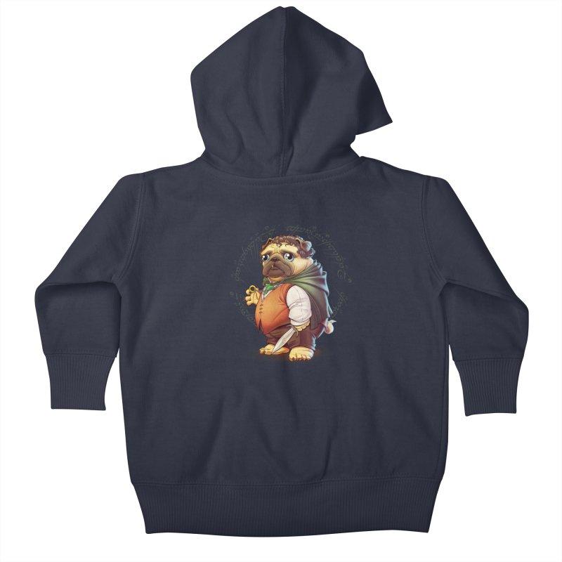 Frodo Puggins Kids Baby Zip-Up Hoody by T2U