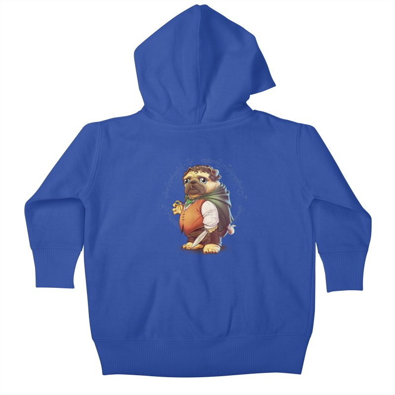 Frodo Puggins Kids Baby Zip-Up Hoody by T2U