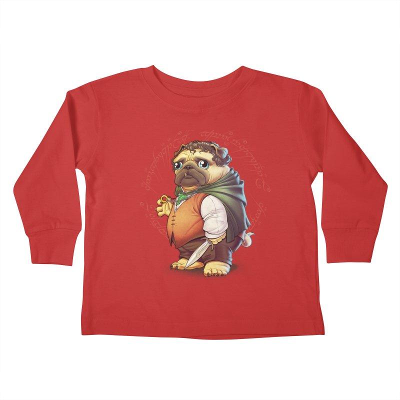 Frodo Puggins Kids Toddler Longsleeve T-Shirt by T2U