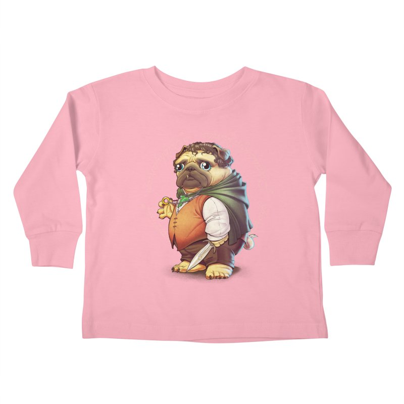 Frodo Puggins Kids Toddler Longsleeve T-Shirt by T2U