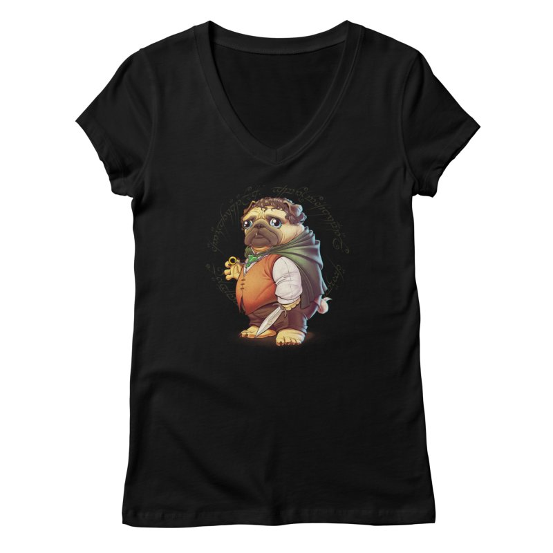 Frodo Puggins Women's V-Neck by T2U