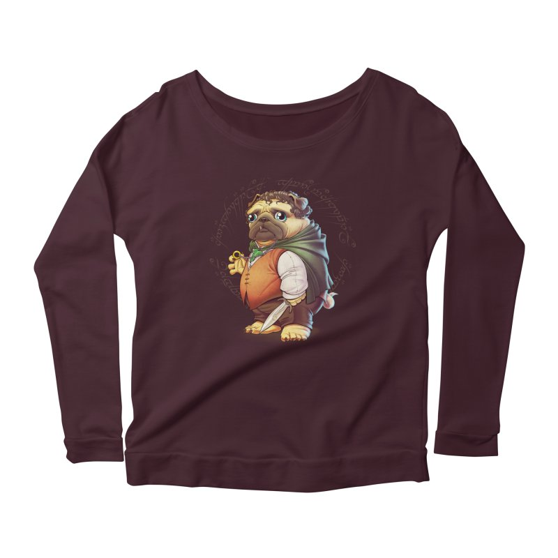 Frodo Puggins Women's Longsleeve Scoopneck  by Tiago Möller Art Shop