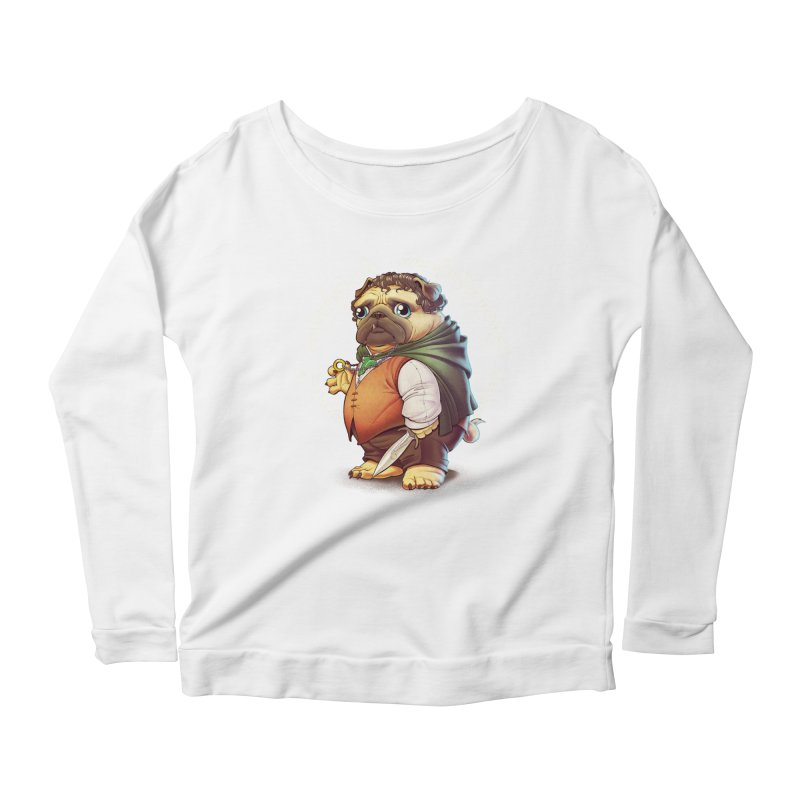 Frodo Puggins Women's Scoop Neck Longsleeve T-Shirt by T2U