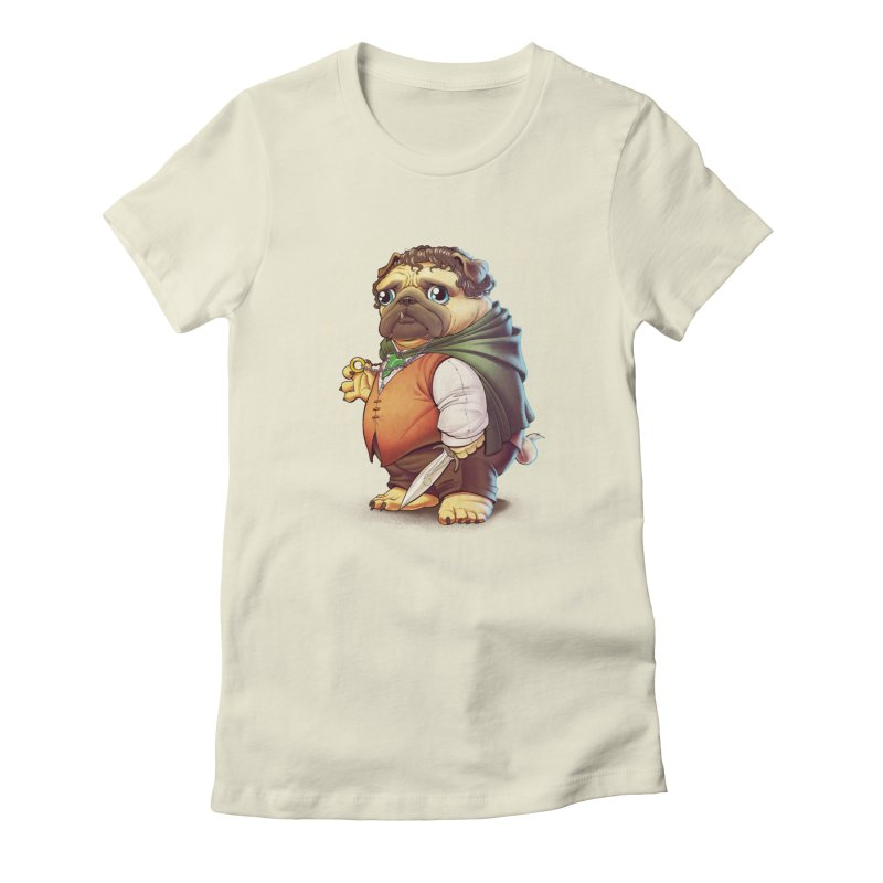 Frodo Puggins Women's Fitted T-Shirt by Tiago Möller Art Shop