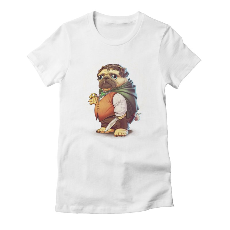 Frodo Puggins Women's Fitted T-Shirt by T2U