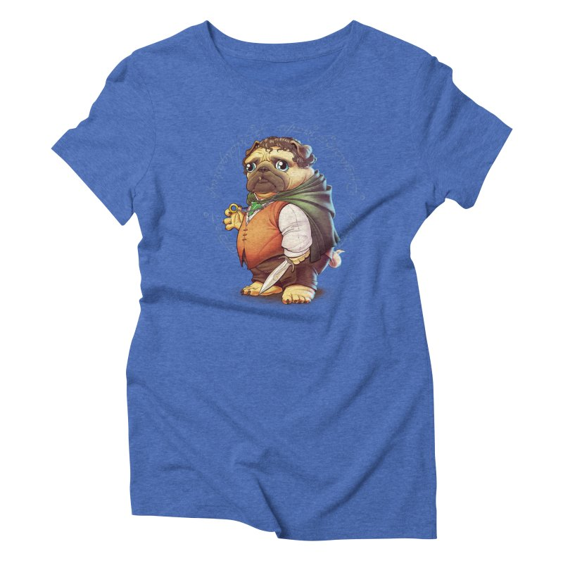 Frodo Puggins Women's Triblend T-shirt by Tiago Möller Art Shop