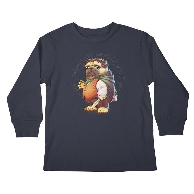 Frodo Puggins Kids Longsleeve T-Shirt by T2U