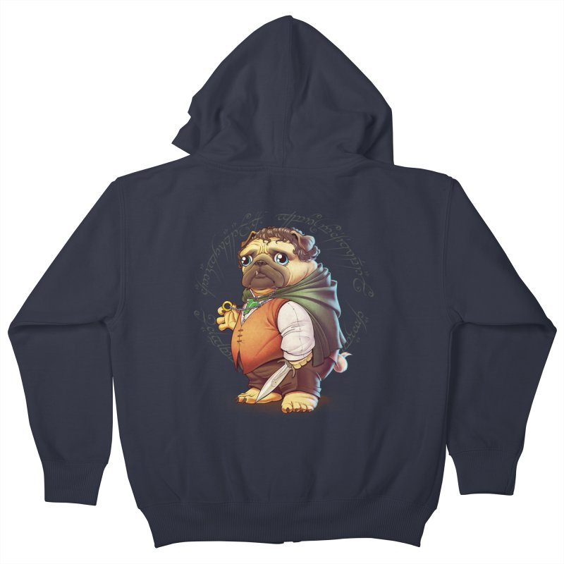 Frodo Puggins Kids Zip-Up Hoody by Tiago Möller Art Shop