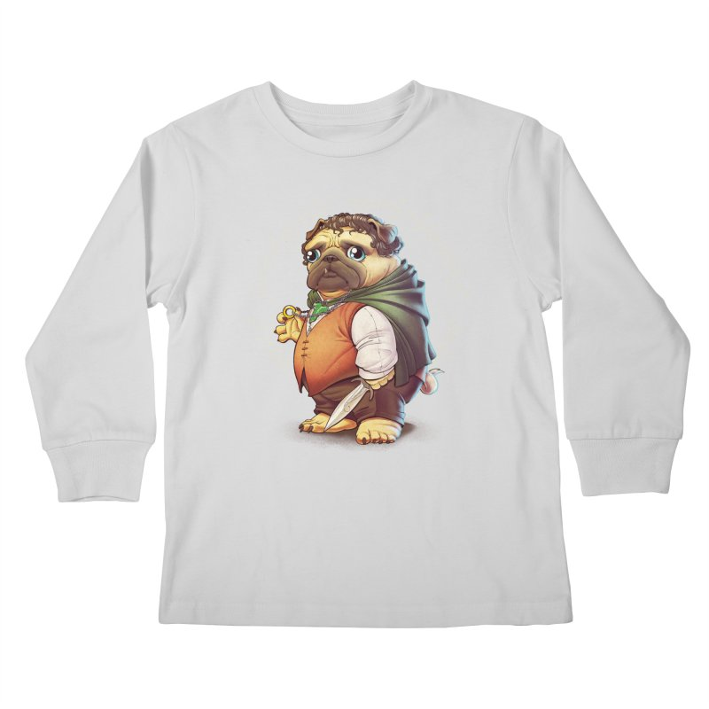 Frodo Puggins Kids Longsleeve T-Shirt by T2U