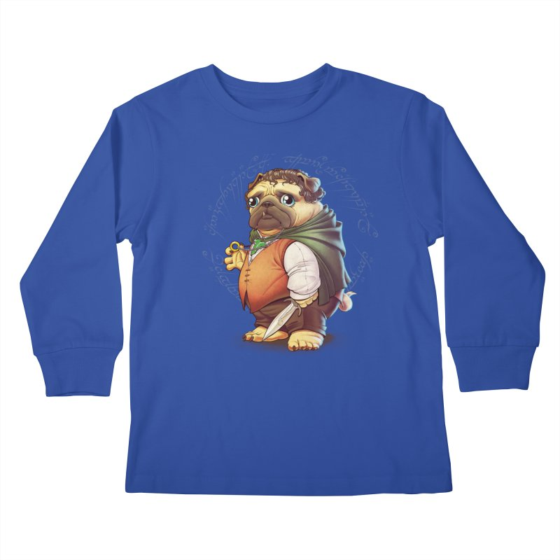 Frodo Puggins Kids Longsleeve T-Shirt by Tiago Möller Art Shop