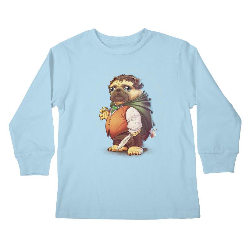 Frodo Puggins Kids Longsleeve T-Shirt by Tiago Möller Art Shop