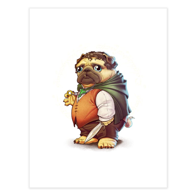 Frodo Puggins Home Fine Art Print by Tiago Möller Art Shop