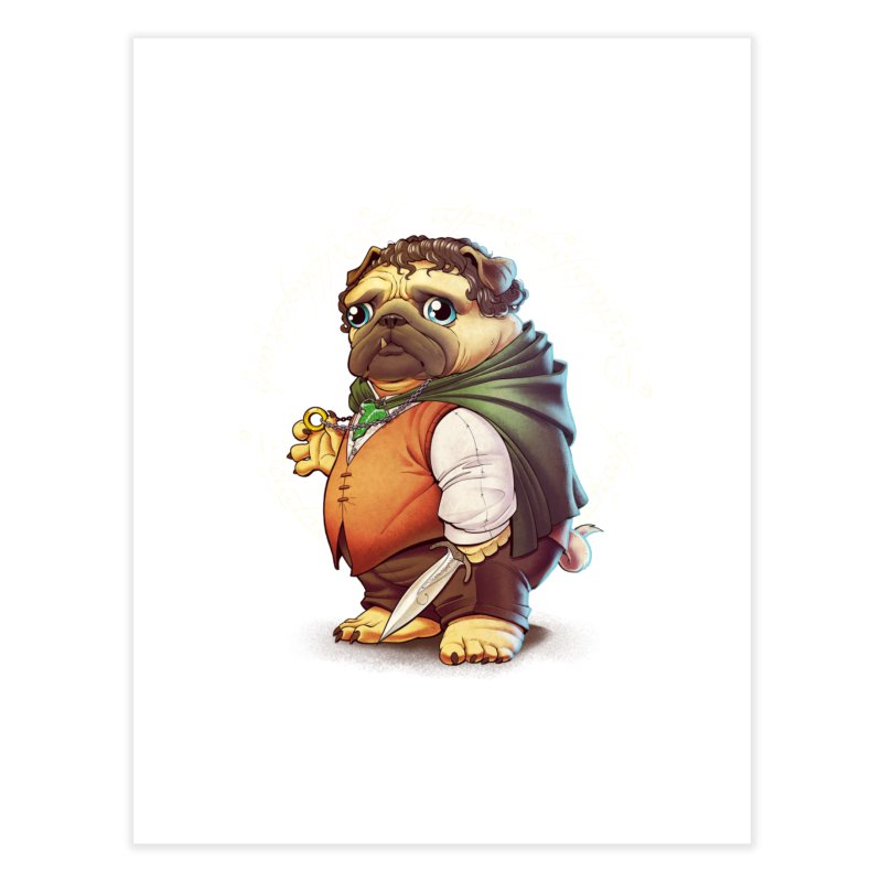 Frodo Puggins Home Fine Art Print by T2U