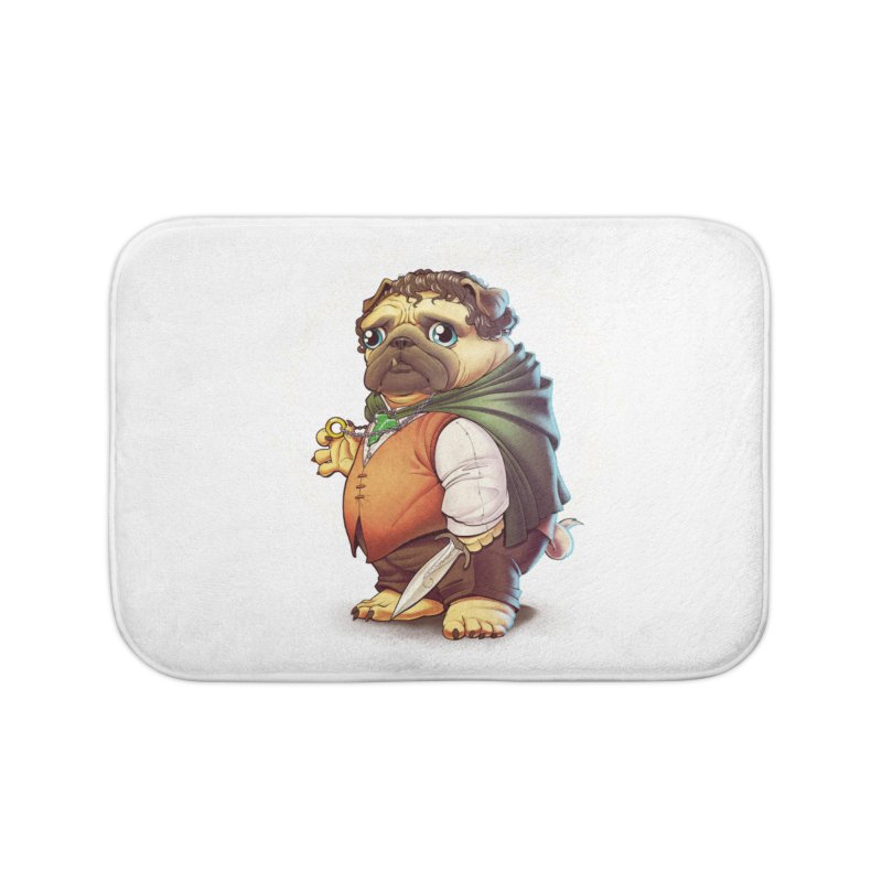 Frodo Puggins Home Bath Mat by T2U