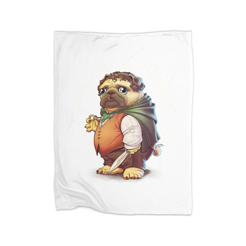 Frodo Puggins Home Fleece Blanket Blanket by T2U