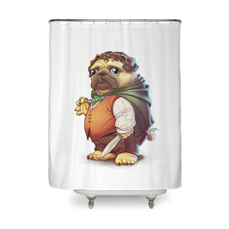 Frodo Puggins Home Shower Curtain by T2U